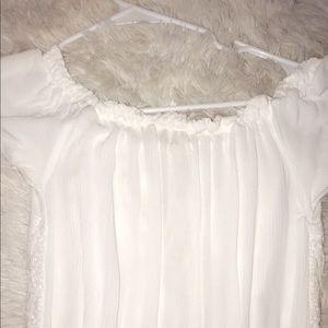 PacSun Dresses - White off-shoulder Romper ☆ Pacsun